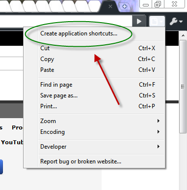 chrome-app-shortcut