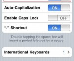 disable auto correct iphone