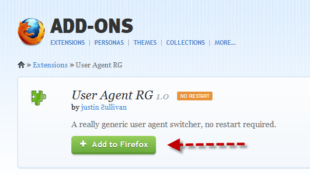 Step 1 - Change Firefox Browser User Agent