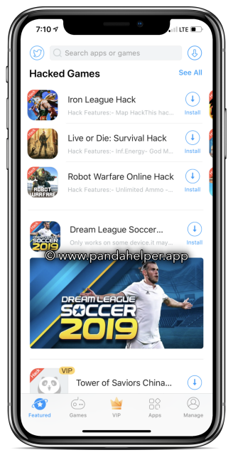 Panda Helper ( Hacked Games - Apps ) iOS and Android APK